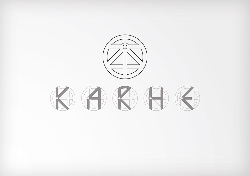 KARHE banda de rock Zaragoza, diseño de logotipo