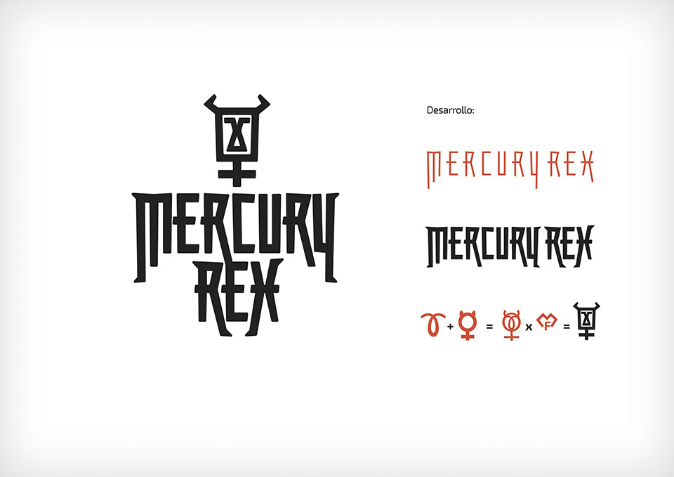 Mercury Rex rock Zaragoza Diseño de logotipo