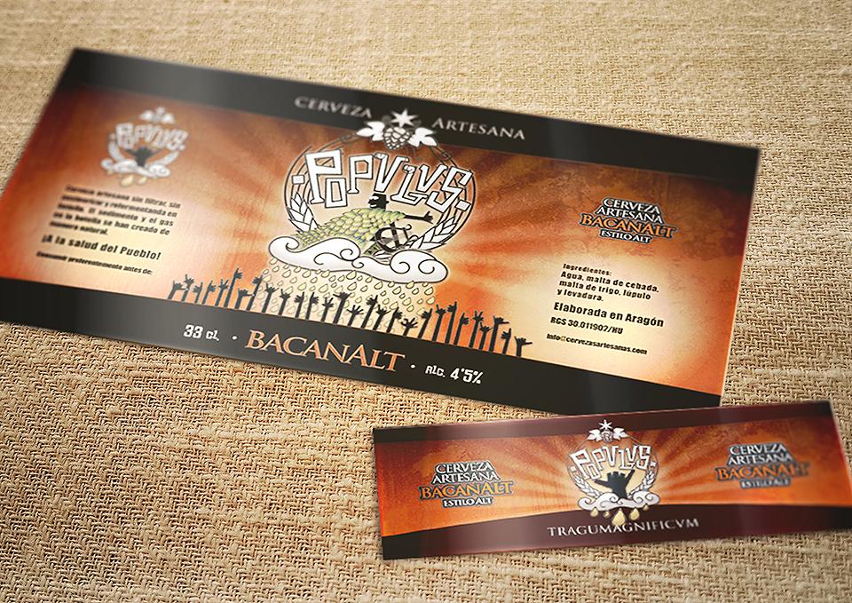 Birragoza, festival de la cerveza artesana de Zaragoza | diseño etiqueta cervezas POPULUS | bancanalt
