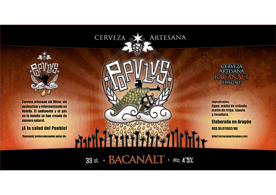 Birragoza, festival de la cerveza artesana de Zaragoza | imagen corporativa cervezas POPULUS | bancanalt
