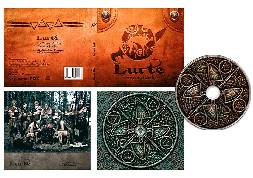 Lurte diseño cd sencillo arte de portada