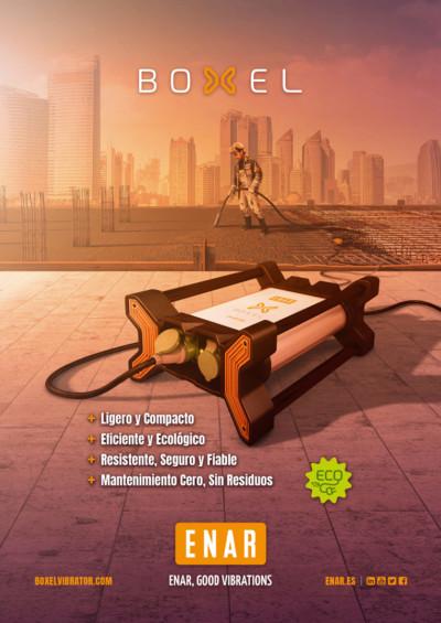 vibrador de hormigón boxel converter | campaña publicitaria