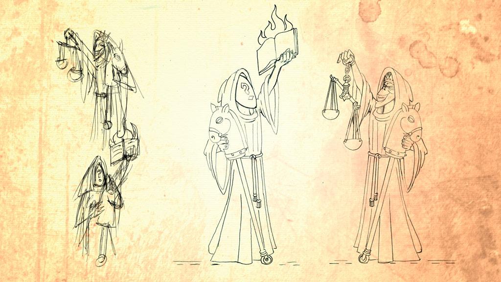 Lurte V | Compañía Almogávar | Bocetos 4 | El hambre y el quinto jinete el Olvido, la ignorancia