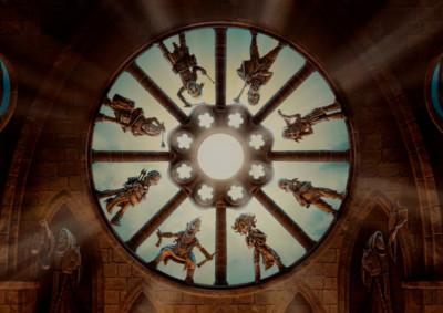 Lurte V | Compañía Almogávar | Bocetos 9 la banda rosetón
